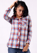 Point One IMANIAR Red Plaid Shirt