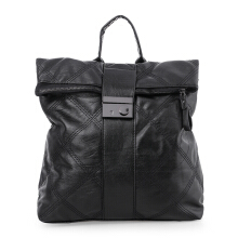 HUER Dedra Quilted Backpack - Black