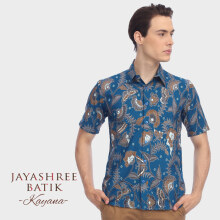 JAYASHREE BATIK Slim Fit Short Sleeve Kayana - Blue