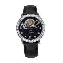 TEIWE TW2058-S FAZZIONE WHITE GOLD BLACK DIAL Black