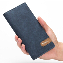 Baellerry men's original imported leather wallet long Korean multi-card ultra-thin wallet men's fashion casual wallet