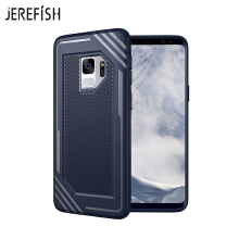 JEREFISH Samsung Galaxy S9 Shockproof Phone Case Rugged Hybrid Hard PC Soft Silicone Full Body Protective Phone Cover
