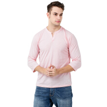 FACTORY OUTLET UG1802-0008 Mens T-Shirt 3/4 Sleeve - Pink