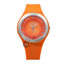 LORUS Jam Tangan - Orange Silver - Silicon - RRX45DX9