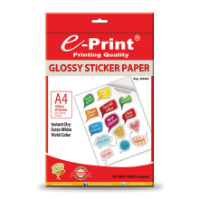 E-PRINT Sticker Glossy Photo Paper A4 135gsm 20 Sheets