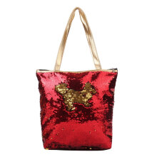 [LESHP]Women Sequin Single SHoulder Bag Colorful Lady Casual Travel Shopping Red