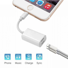 JOYSEUS Lightning Headphone Audio Charge Adapter Accessories for iPhone 8 / 8 Plus / 7 / 7 Plus White