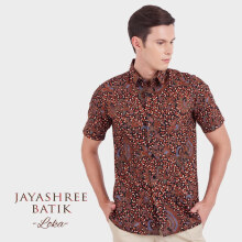 JAYASHREE BATIK Slim Fit Short Sleeve Loka - Black