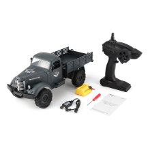 COZIME JJR/C Q61 1/16 2.4G 4WD RC Off-Road Military Truck Transporter Car Toy Grey