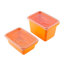 (SB) VICTORYHOME Food Box 1000ml & 500ml Set of 2 - Orange