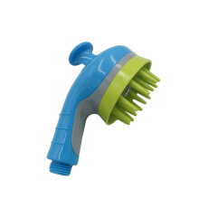 [OUTAD] Pets Dogs Cats Massager Shower Head Handheld Design Sprayer Bath Brush Blue