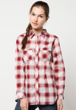 Point One Diamond Print Plaid Shirt