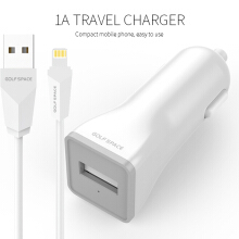[free ongkir]GOLFSPACE Charger G-C1-1USB with Kabel Data Lightning White