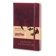 MOLESKINE Harry Potter Limited Edition Notebook Large Ruled Red - Expecto Patron