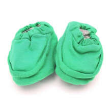 Cribcot Booties Plain - Hot Green Size 3-6M