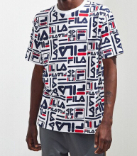 FILA Charlie All-Over Print Tee - White - S,M,L