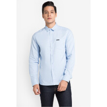 COTTONOLOGY Men's Shirt Hella Long Blue