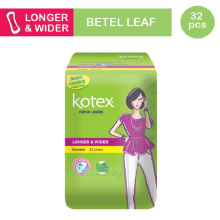 KOTEX Fresh Liner Longer & Wider Betel Leaf - 32 S