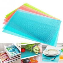 Anamode 4Pcs Antifouling Refrigerator Pad Moistureproof Fridge Drawer Mat Tableware Tool -Randomly Color