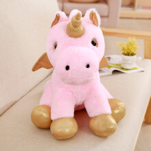 Jantens 40cm kawaii soft plush horse with wings cute animal cartoon unicorn plush toy cute child doll