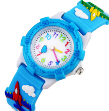 Keymao Fighter Waterproof 3D Cute Cartoon Silicone Wristwatches Gift for Little Girls Boy Kids Children Blue