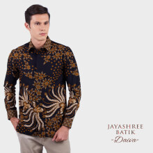 JAYASHREE BATIK Slim Fit Short Sleeve Daiva - Black