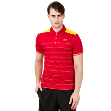 YONEX Men's Polo T-Shirt - High Risk Red PM-G017-893-28T-17-S