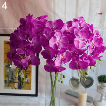 Farfi Artificial Butterfly Orchid Flower 1 Piece Wedding Home Decor Fake Cloth Flower