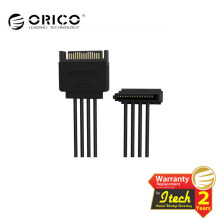 ORICO DC15P-PX4 1 to 4 15 Pin Power Extension Cable Black