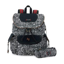 Sakroots Flap Backpack in B&W Spirit Desert Multicolor