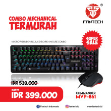 Fantech Keyboard & Mouse Mechanical Gaming Commander MVP-861