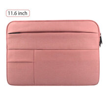 [COZIME] Computer Bag Multifunctional Computer Sleeve Waterproof Computer Case Holder Pink1  11.6 inches