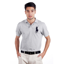POLO RALPH LAUREN - Custom-Fit Polo Shirt  Light Grey Men