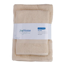 JOYHOME Towel By Terry Palmer Woven Piece Dyed With Dobby Border BUY 2 GET 1 ( 2 Bath + Free 1 Travel Towel) - IVORY