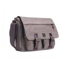 Troop London Classic Canvas Laptop Messenger Bag TRP0207 Brown