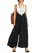 Zanzea S-5XL Women Casual Sleeveless Strap Baggy Wide Leg Pant Jumpsuit Rompers