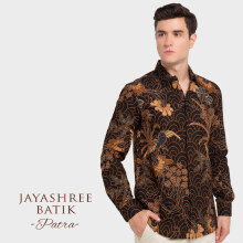 JAYASHREE BATIK Slim Fit Long Sleeve Patra - Black