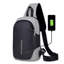 SiYing leisure shoulder bag USB charging multi-function anti-theft men's chest bag