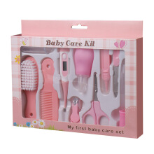 Keymao Infant Newborn Baby Nail Clipper Scissors Hair Brush Comb Manicure Care Kit Baby Nail Shear Trimmer Care Products
