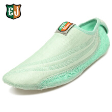 Zanzea 0051EJ Women Cotton Colorful Hook Loop Comfortable Yoga Ballet Dance Sport Casual Flat Home Shoes Green 1