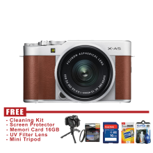Fujifilm X-A5 Kit Lens 15-45mm OIS II - Brown - FREE Accessories