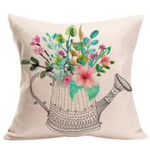 BESSKY Home Decor Cushion Cover Happy Sunmer Time Throw Pillowcase Pillow Covers_ Multicolor
