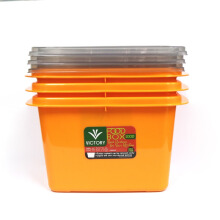 VICTORYHOME Food Box 1000ml Set of 3 - Orange