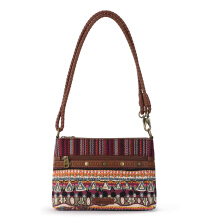 Sakroots Campus Mini Crossbody Bag Mulberry One World Multicolor