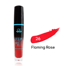 QL Cosmetic Matte Lip Cream - 26 Flaming Rose 5g