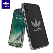 Adidas Originals Trefoil Clear Case iPhone X - Silver