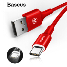 Baseus Type C Fast Charging Cable For Samsung Note 8 S9 S8 Plus Xiaomi Redmi Handphone HP USB Type-C Charger Cable