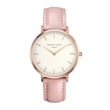 ROSEFIELD The Bowery Rose Gold White Dial Watch with Pink Strap [BWPR-B7]