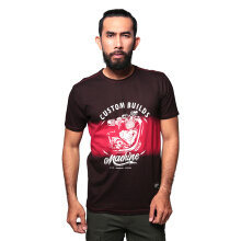 Eiger Riding Machine Head OL T-shirt - Brown Red