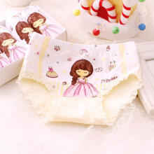 Farfi Cartoon Princess Soft Elastic Cotton Kids Girls Underwear Briefs Underpants